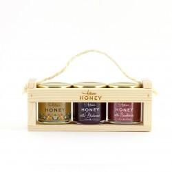 Wooden gift set: 3x50 g