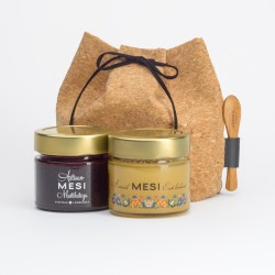 Cork bag with 2x200 g honey