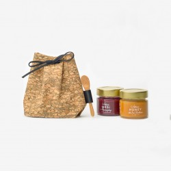 Cork bag with 2x100 g honey
