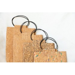 Cork gift bag with handles
